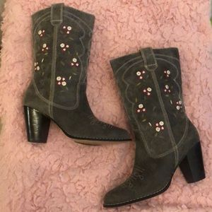 Anthropologie Seychelles Embroidered Boots